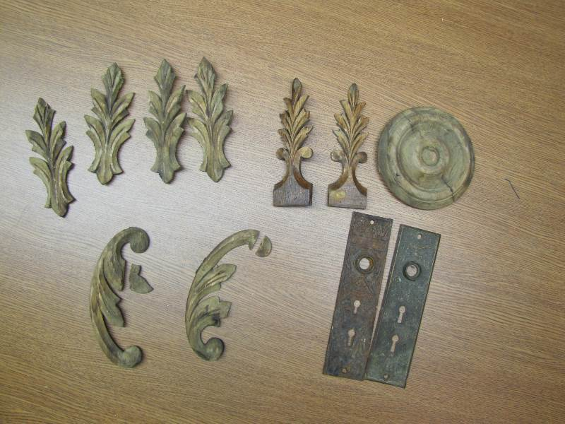 Vintage wooden moldings