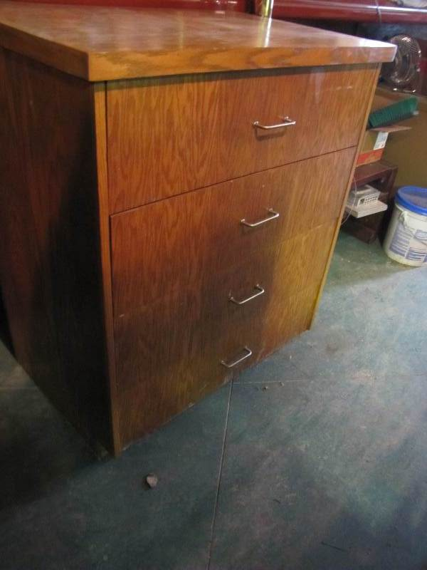 4 Drawer Wood Cabinet
