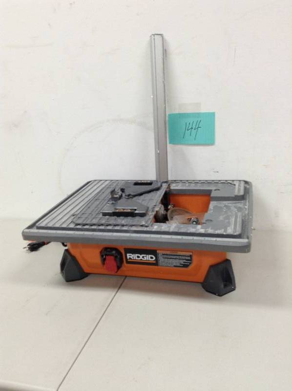ridgid 7 in job site wet tile saw kx real deals tools