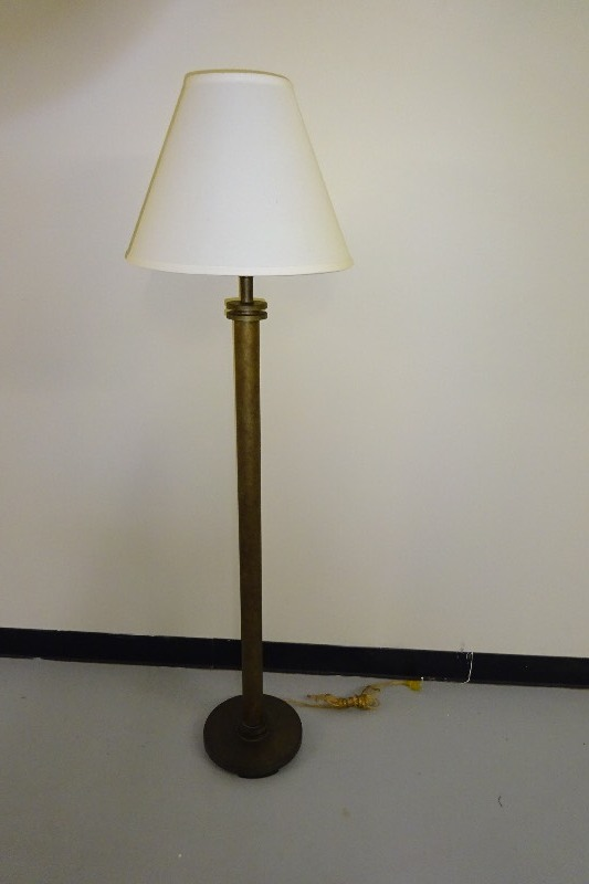 Floor lamps with shade home furnishings k bid for Off set floor lamp