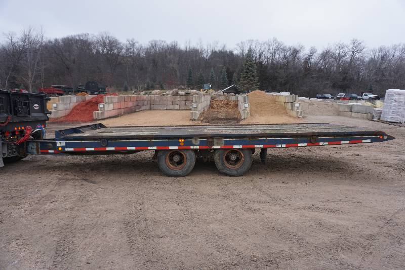 1984 Eagle 24' Heavy Duty Air Activated Tandem Dually Tilt Bed Equipment Trailer