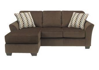 Ashley sofa with chaise brown 142 warehouse blowout for Ashley brown sofa chaise