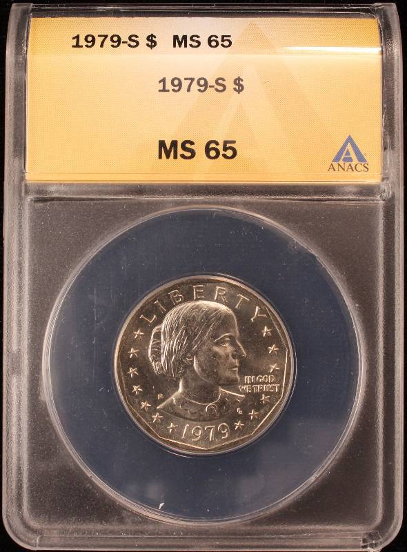 1979-S $1 SUSAN B  ANTHONY DOLLAR BU MS65 ANACS | DEC 28th