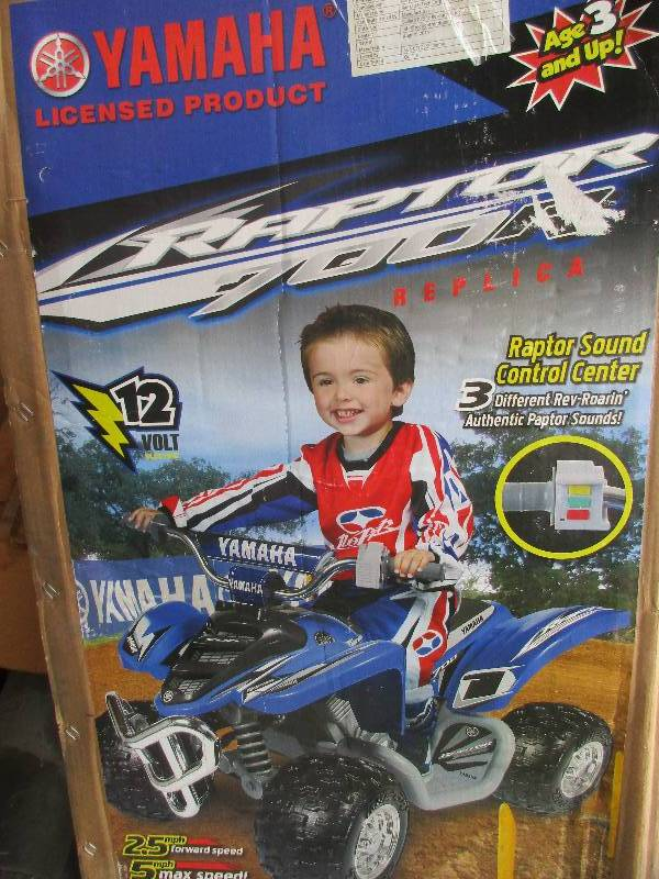 Yamaha Raptor 700R 12 volt 4-wheeler power wheels | January