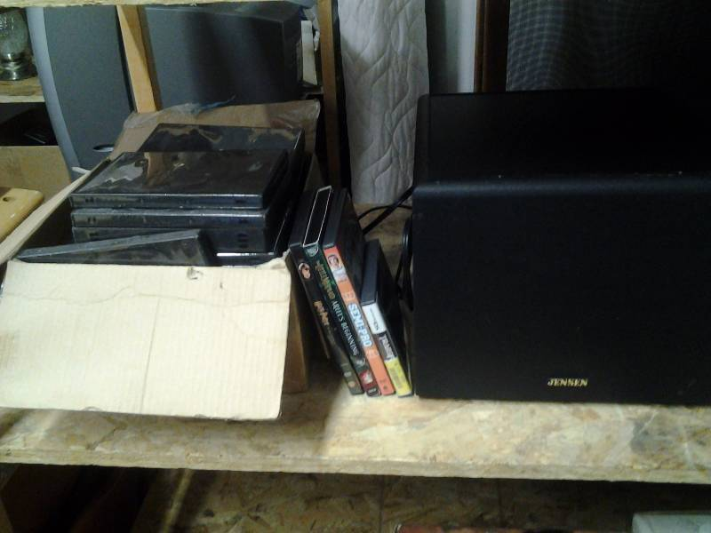DVD's, DVD Cases, Jensen Sub Woofer, Nintendo DS Game