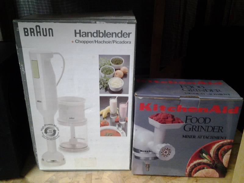 Braun Hand Blender, Kitchenaid Food Grinder Attachment