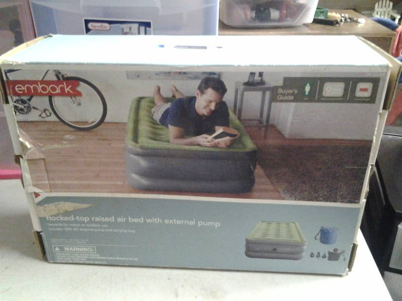 Embark Twin Size Air Mattress With Pump