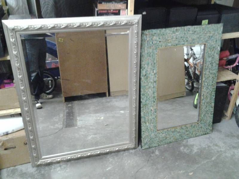 2 Large Mirrors 1-Mosaic, 1- Framed (30x42, 37x47)