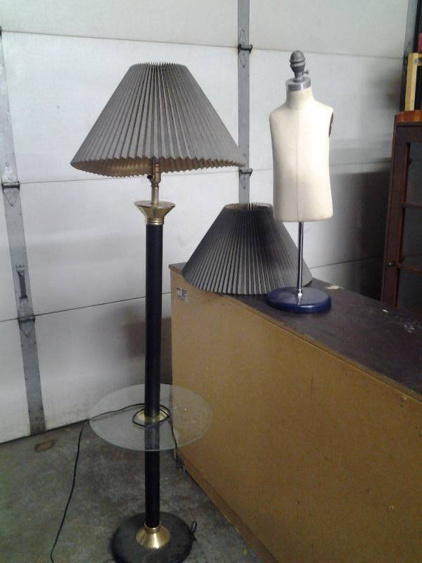 Foor Lamp With Shade, Small Mannequin, Other Mannequin