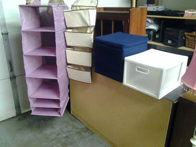 Lot Of Organizers, Storage Cabinet, Closet Rod, Hanging Organizers