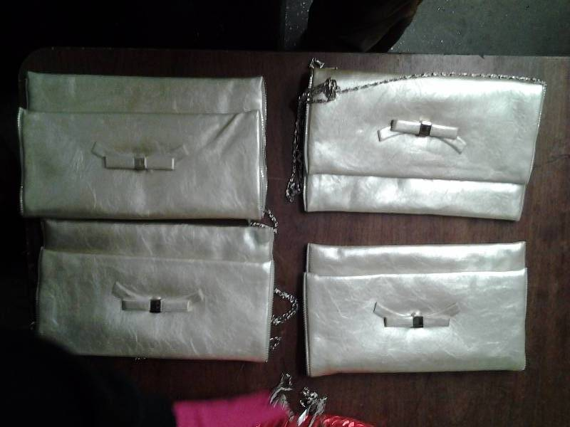 Set Of 4 Champagne Clutches