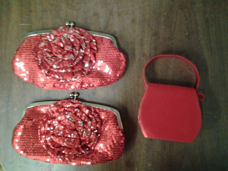 3-Assorted Red Clutches