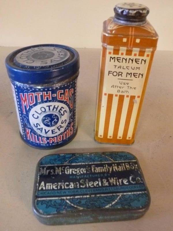 Vintage Metal Containers