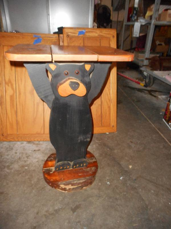 HAND MADE BEAR TABLE
