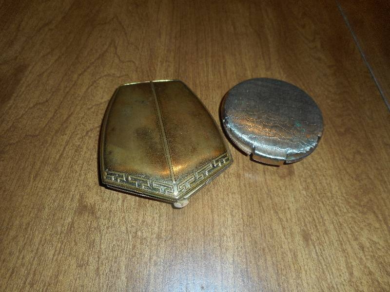 2 ANTIQUE COMPACTS