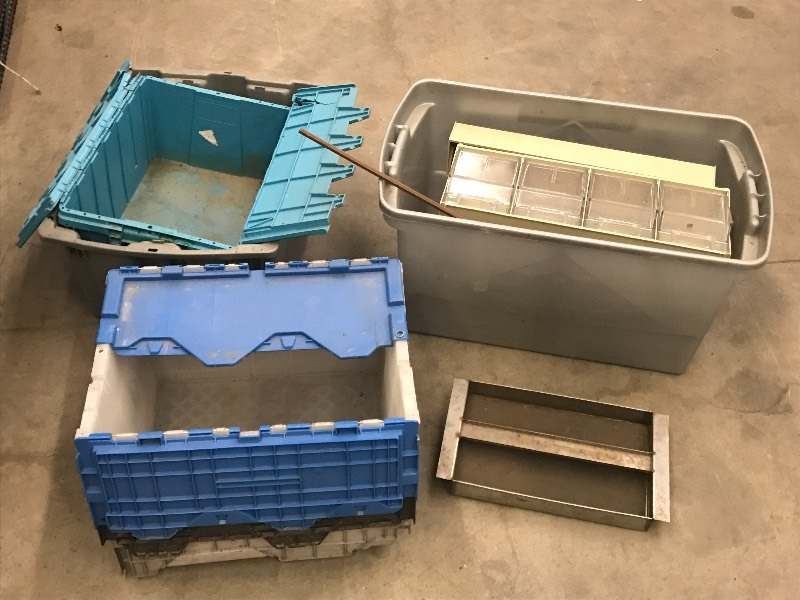 Lot Of Assorted Plastic Storage Tot...