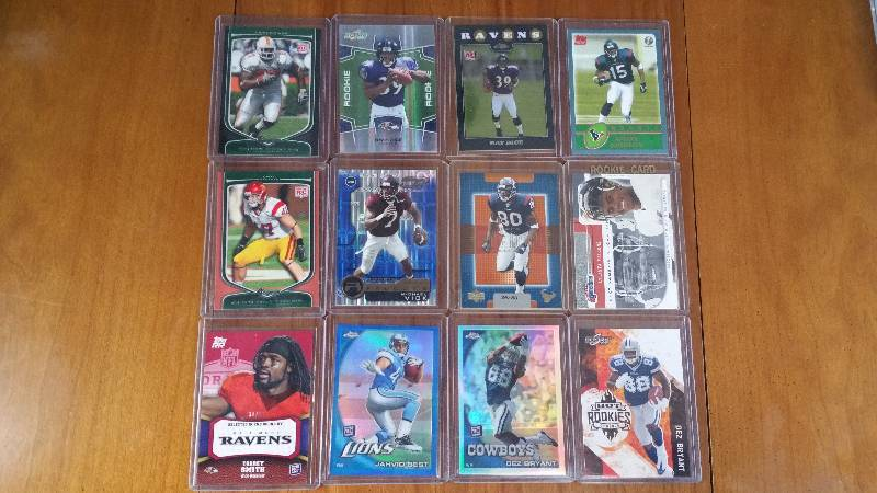 Group of 12 Star Rookie Football Cards
