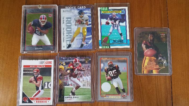 Group of 7 Star Rookie Football Cards