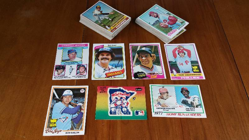 Larger Group of 1970's early 1980's Baseball Cards