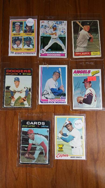 Group of 8 Vintage Star Baseball Cards Andre Dawson Rookie, Etc.