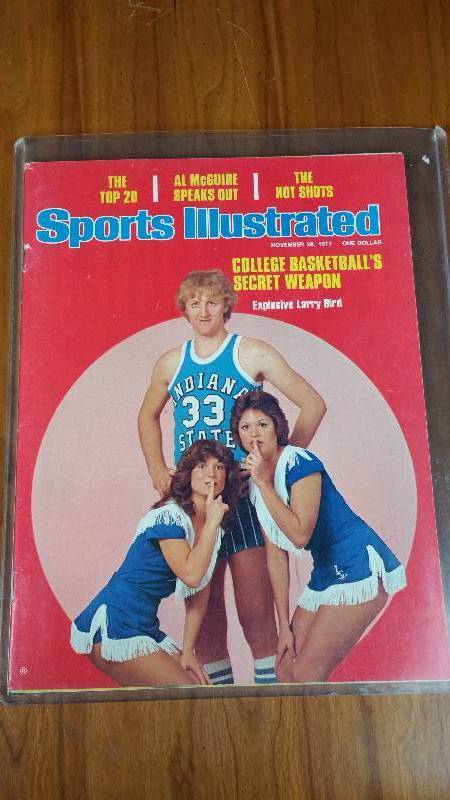 Larry Bird College Sports Illustrated Cover