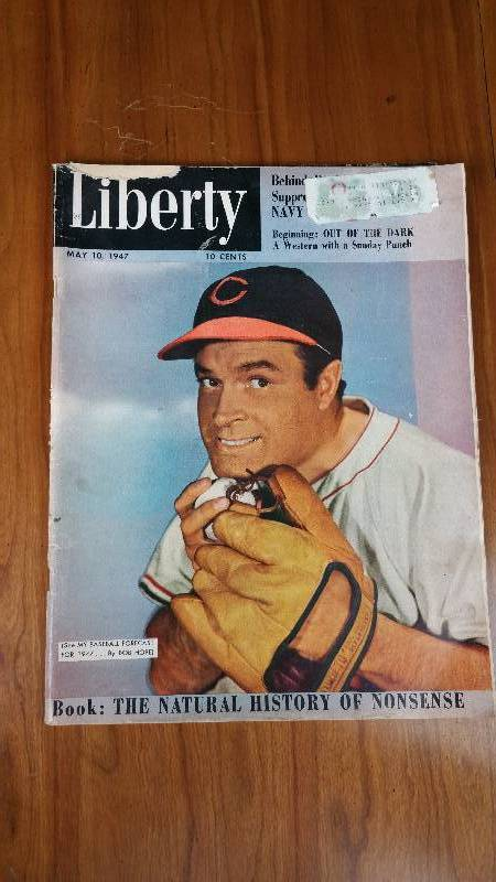 Liberty Bob Hope Cleveland Indians Cover