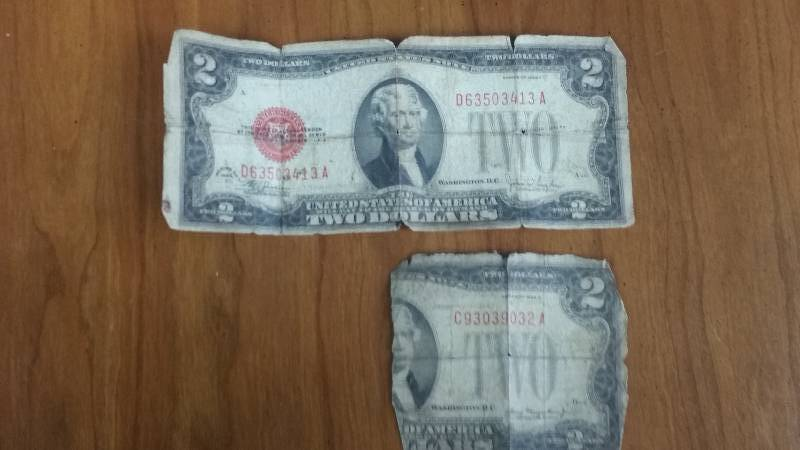 (2) 1926 Red Seal $2 Notes