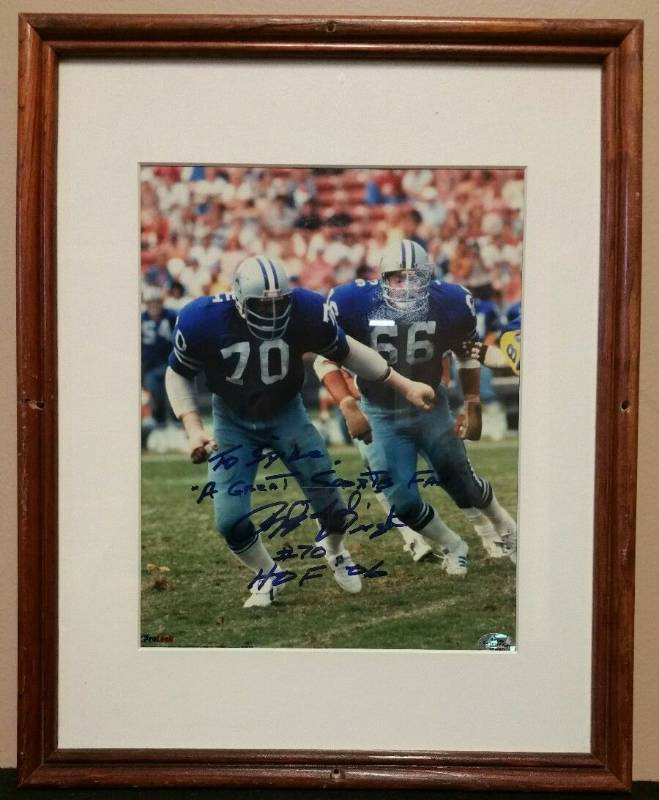 Rayfield Wright #70 Framed Matted Photo Signed 8x10 2006 HOF Dallas Cowboys