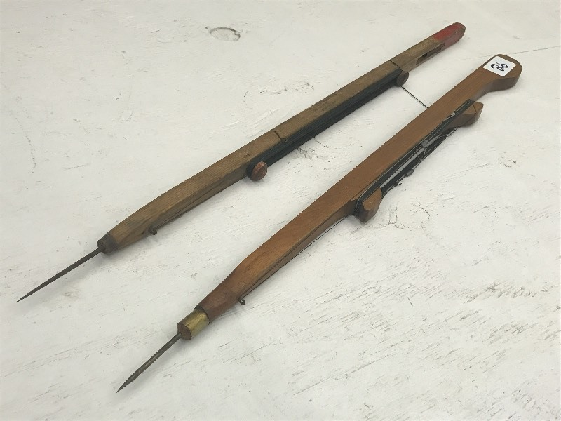 (2) Vintage Brass-Tipped Ice Rods ...