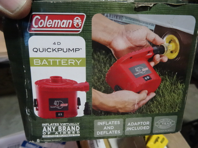 NEW Coleman Quick Pump Battery Operated Air Pump