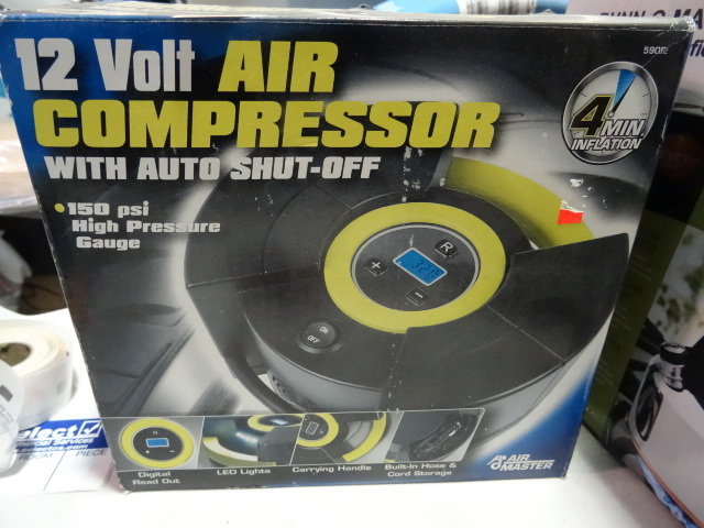 NEW 12 Volt Air Compressor with automatic shutoff 150 psi