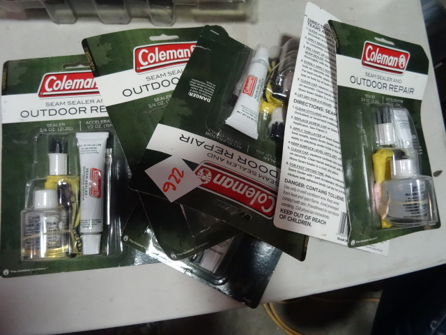 NEW LOT Qty 6 Coleman Outdoor Seam Sealer and Repair Kits est $72 retail