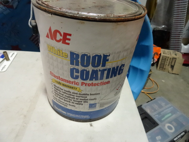 NEW Qty 6 Gallons Elastomeric Roof Coating, White Premium Coating. Estimated $240 retail