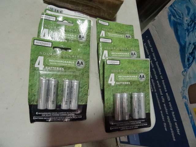 NEW CASE LOT Qty 6 Four (4) Packs Moonrays Rechargeable AA Batteries NiCad 24 total batteries