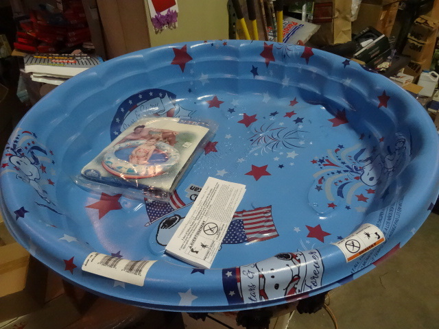 NEW Qty 3 Kiddie Pools 2x Plastic and 1x Inflatable Pools