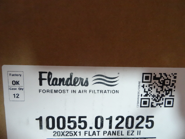 NEW Qty 9 Furnace Filters Flanders 20x25x1 in
