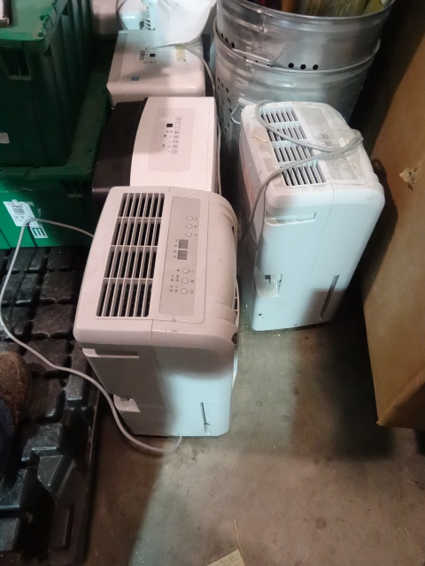 NEW LARGE LOT QTY 6 DeHumidifiers. Tested to power on but no further.
