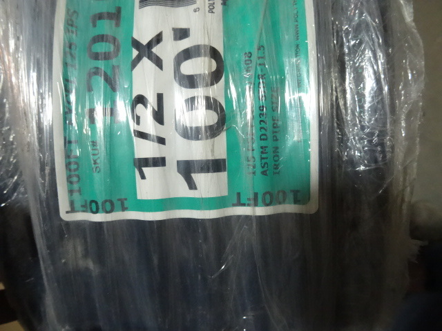 NEW Roll 100ft 1 / 2 in Irrigation Pipe Black NSF