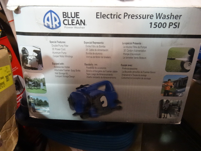 Blue Clean Pressure Washer, Electric 1500 psi. OPEN BOX NOT TESTED