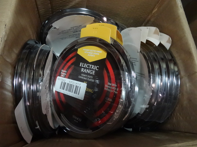 NEW approx Qty 40 Electric Range Trim Rings 8 in