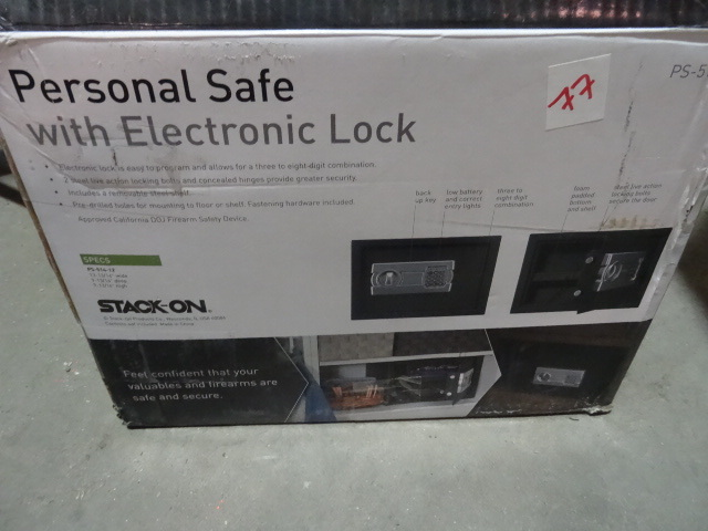 Stack-On Personal Safe ? Was dropped in shipping and is bent out of shape. Lock works but body will need a little TLC