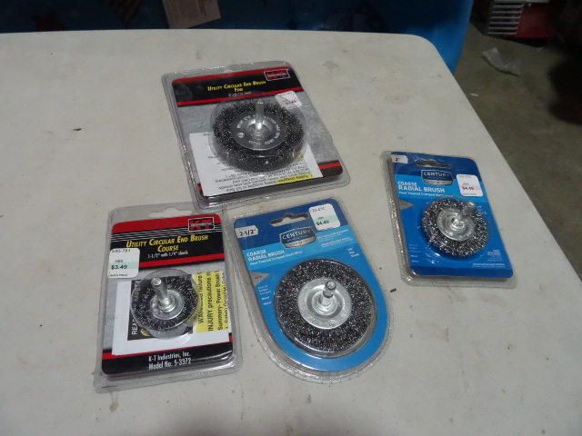 NEW LOT Qty 5 Rotary Wire Brushes $20 retail