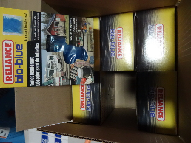 NEW Qty 6 boxes BIO BLUE Toilet Deoderant for RV's Cabins' Boats and all plumbing. $60 retail