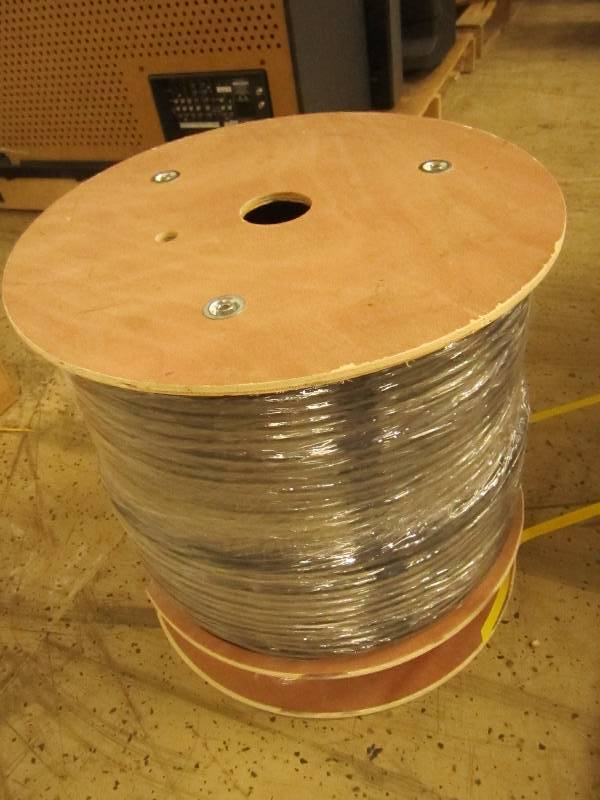 huge roll of optical cable new...