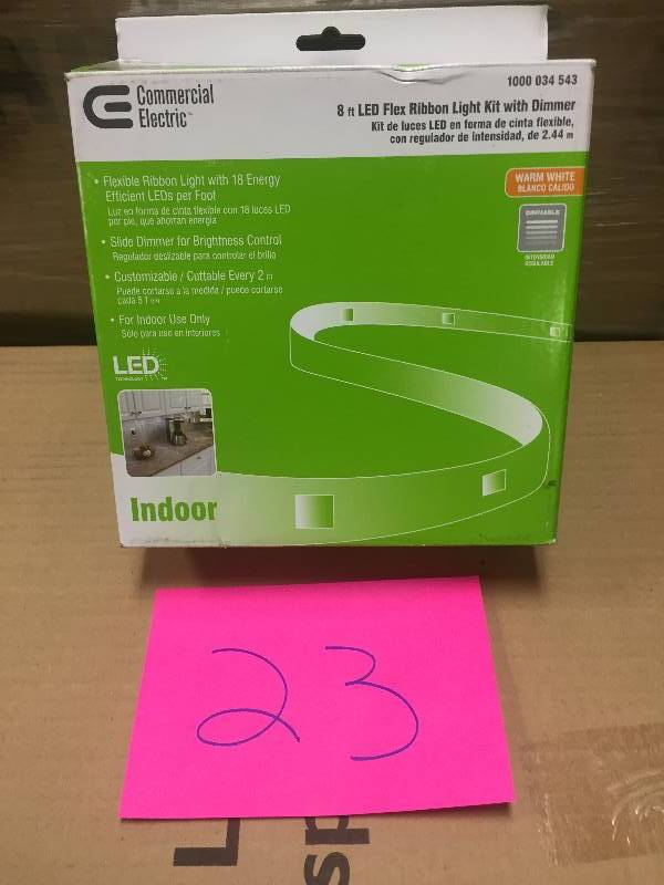 Commercial Electric 8 Ft Clear Led Flexible Tape Rated