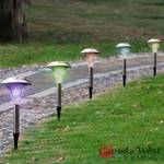 NEW 42 PCS STAINLESS STEEL GARDEN SOLAR COLOR LIGHTS