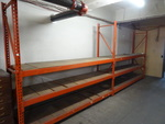 Paltier pallet rack unit. 3 upright...