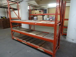 Paltier pallet rack unit. 2 upright...