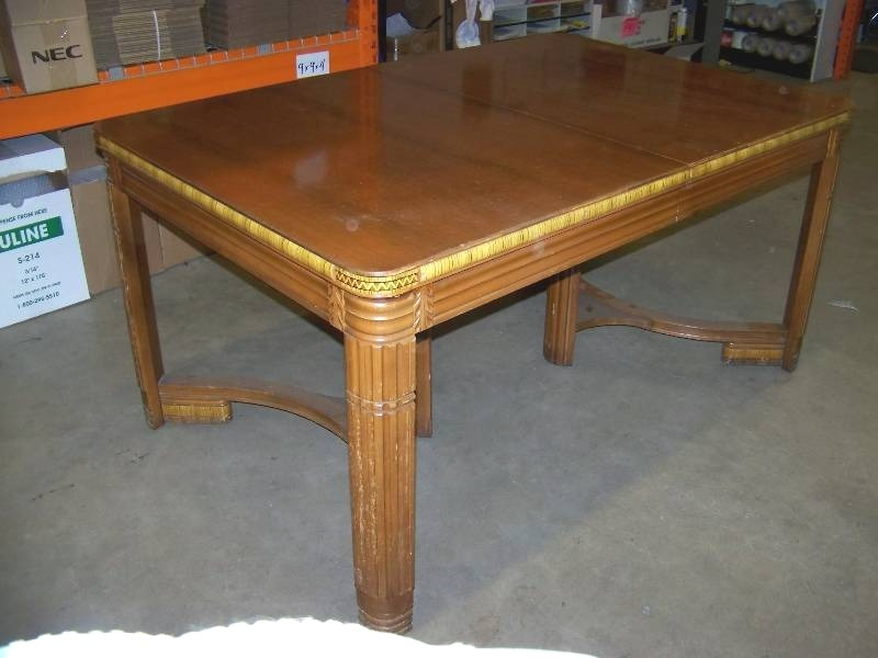vintage dining table with jefferson e z table slide leaf 248 42