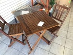 Stained Wood Patio Bistro Set